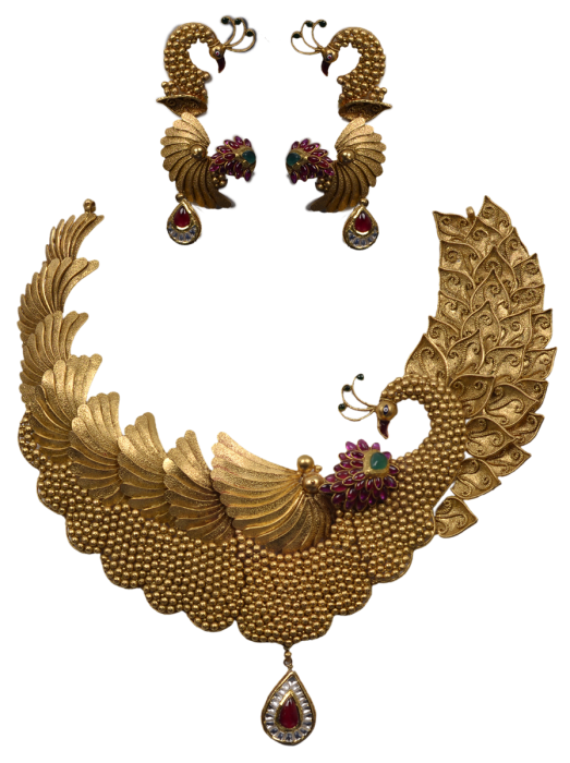 Varieties In Indian Gold Bridal Jewelry Designs Chungath Jewellery